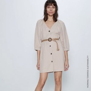 Zara Join Life Belted Dress